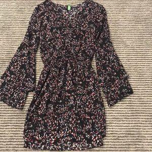 White House Black Market bell-sleeve midi dress